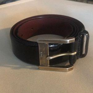 Gorgeous DOLCE&GABBANA black leather belt